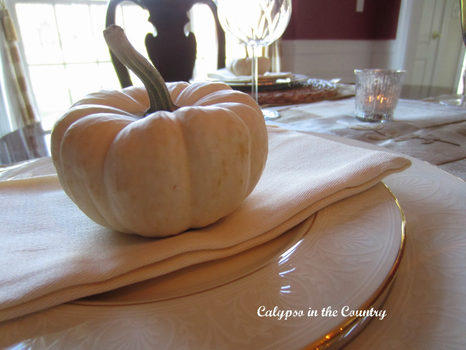 White Pumpkin Place Setting