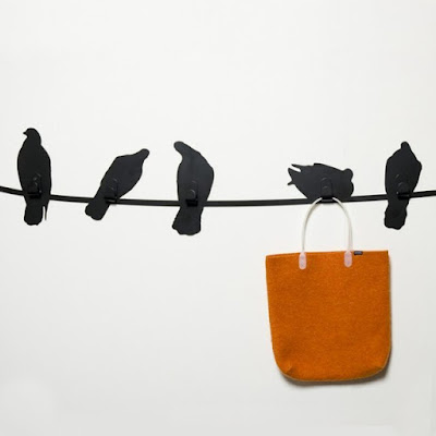 Bird on a Wire Coat Hooks