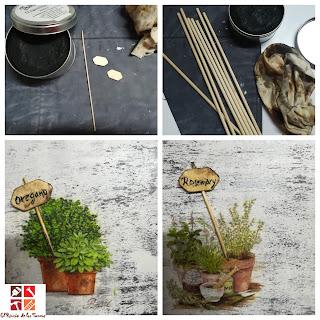 diy cuadro plantas aromaticas