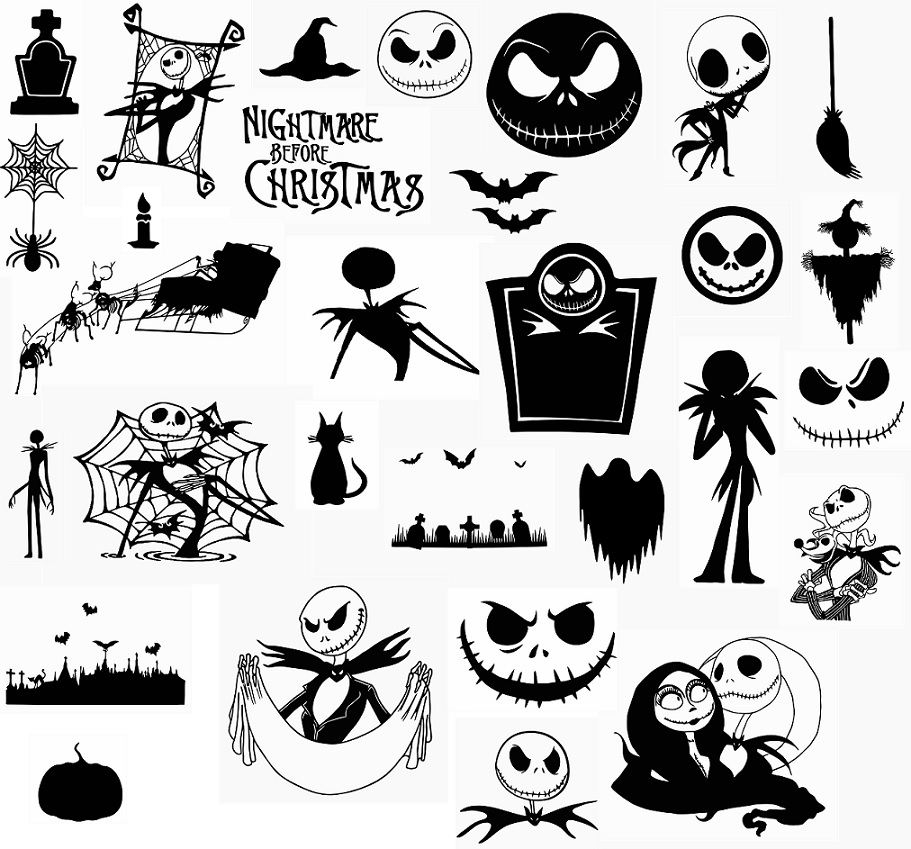 Download digitalfil: Nightmare Before Christmas svg,cut files ...