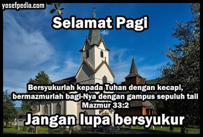 Kata ucapan selamat pagi kristen bergambar