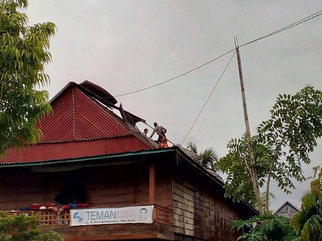Puluhan Rumah Jadi Korban Angin Kencang di Wajo