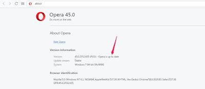 opera web browser updated