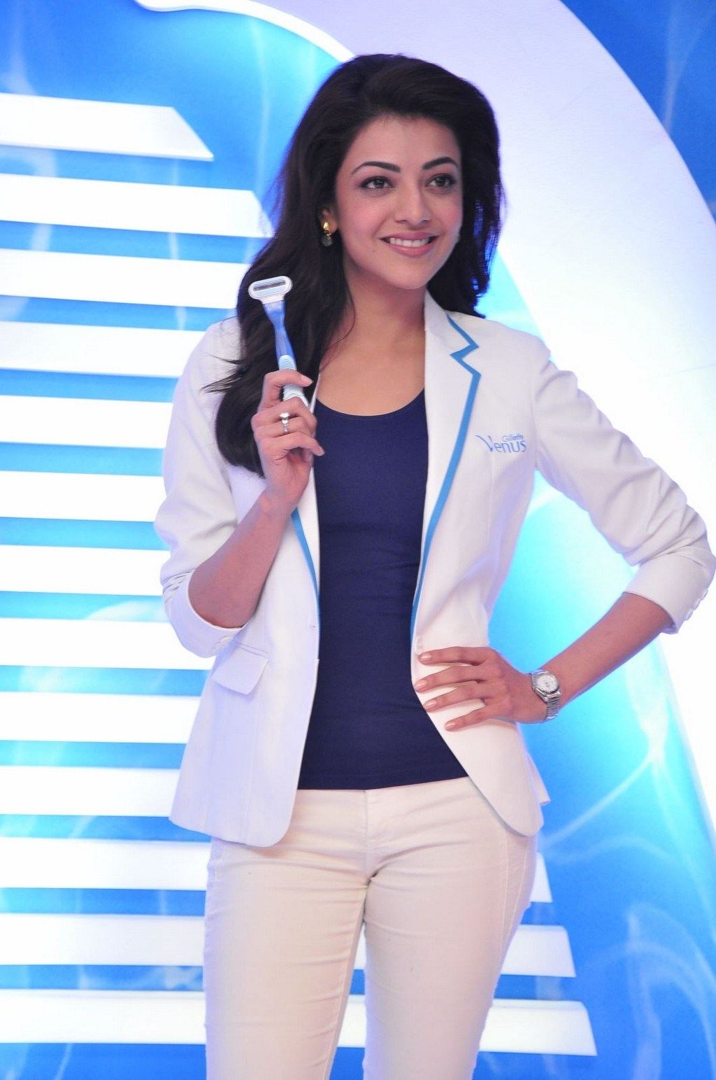 Kajal Aggarwal Latest Photos In White Pant