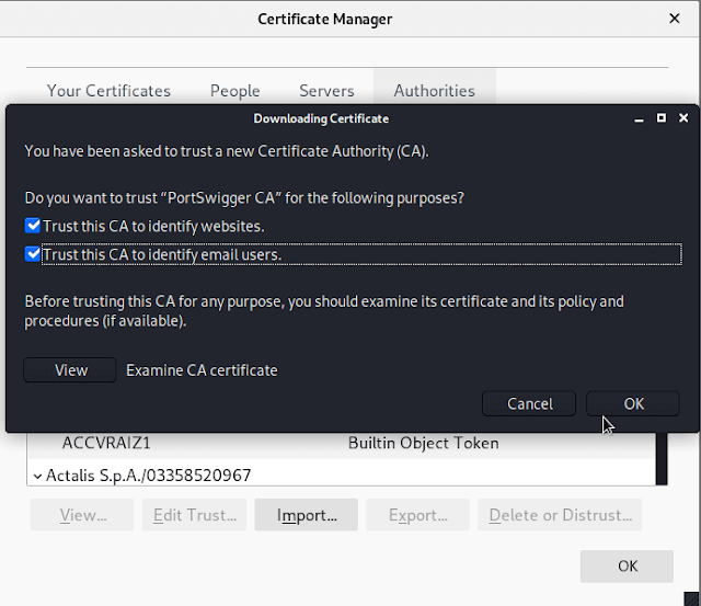 burp certificates configure