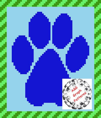 A Paw Print c2c Crochet Baby/Toddler Blanket Pattern