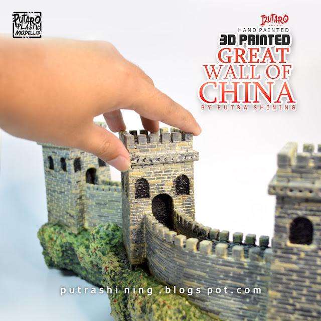 Great Wall Of China Diorama | 3D Print | Hand Painted by Putra Shining | Izutaro