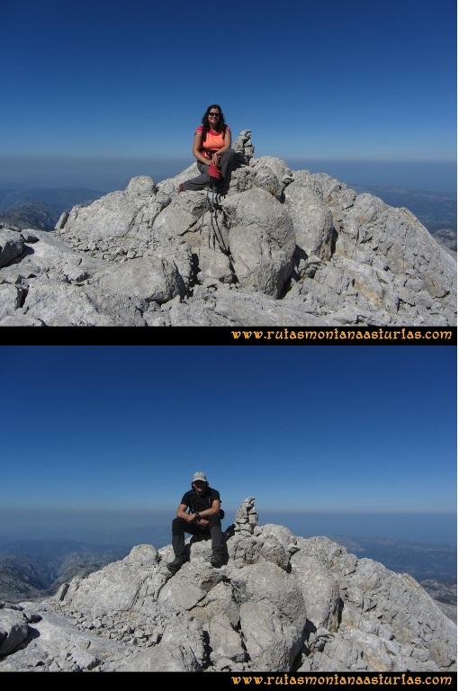 Ruta Ercina, Verdilluenga, Punta Gregoriana, Cabrones: Cima de la Punta Gregoriana