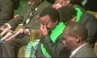 President of Zambia Federick Chiloba  crying