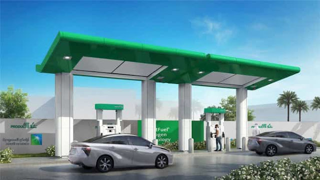Saudi Arabia launched its first hydrogen fueling station