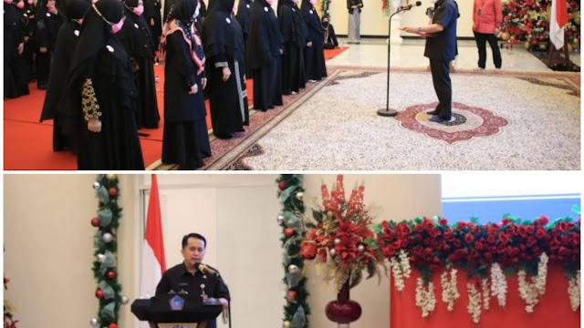 Pjs. Gubernur Fatoni Lantik Pengurus Syiar Muslimah Indonesia Sulut Periode 2020-2023
