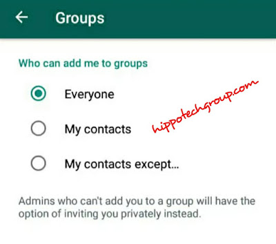 Control on Who Can Add You to Whatsapp Groups4