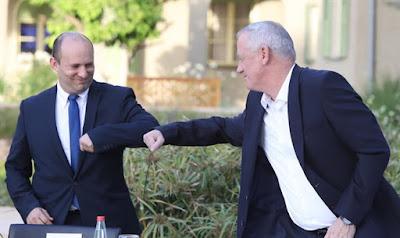 Naftali Bennett  realiza a  transferência do ministério para Benny Gantz