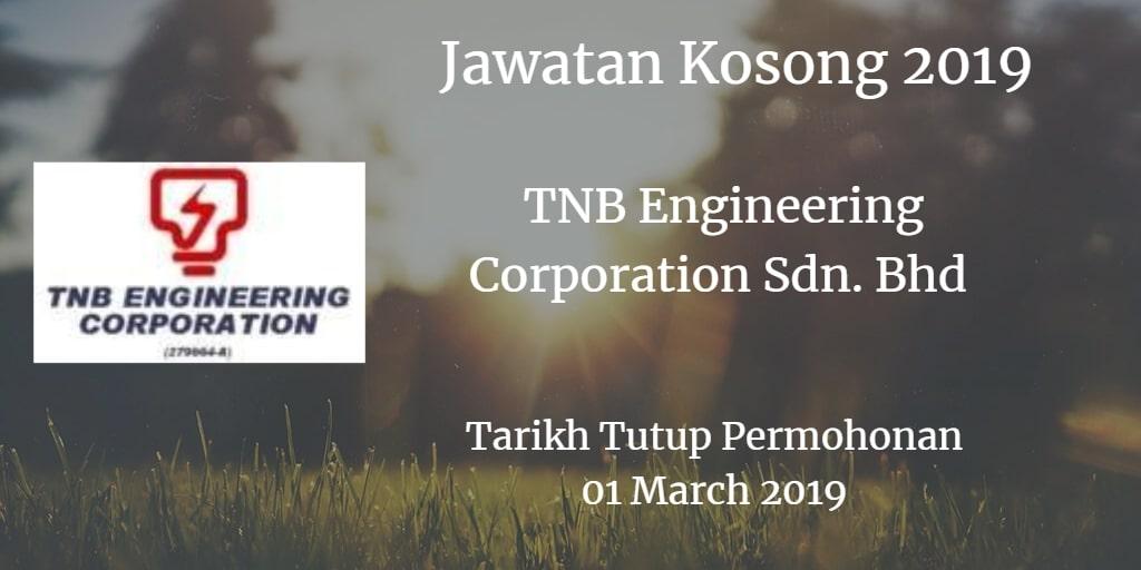 Jawatan Kosong TNB Engineering Corporation Sdn. Bhd 01 March 2019