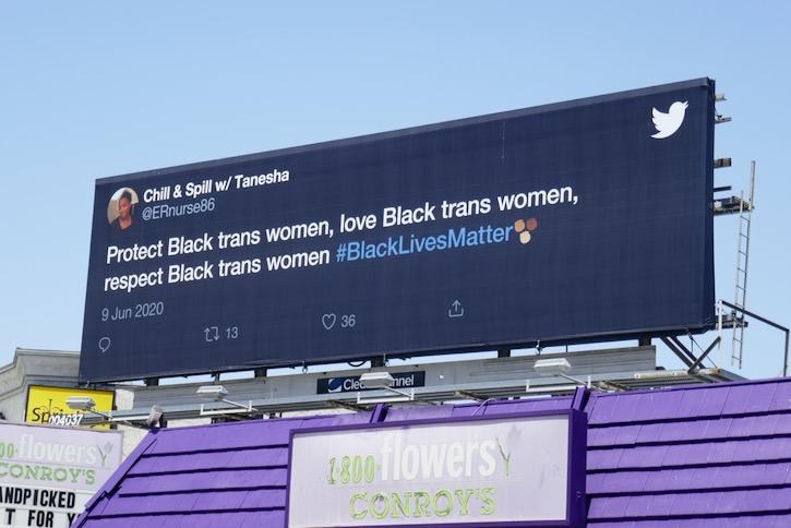 Black Lives Matter Twitter billboard