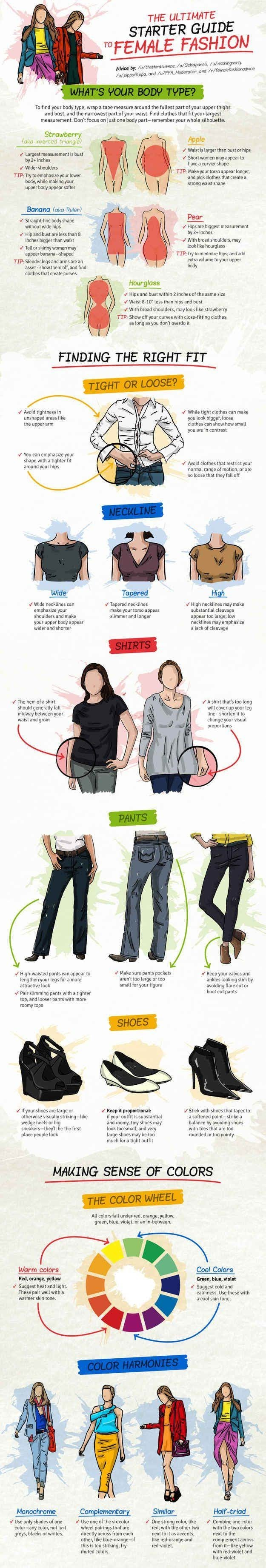 31 Insanely Useful Fashion for Women #Infographics