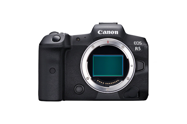 Canon EOS R5 showing sensor