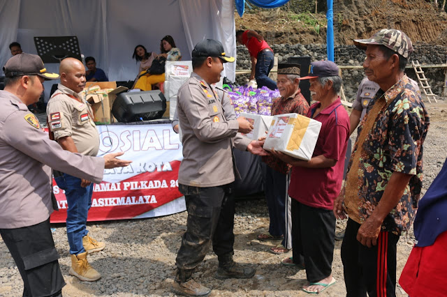 BAKTI SOSIAL DALAM RANGKA PILKADA 2020 DI WILKUM POLRES TASIKMALAYA KOTA