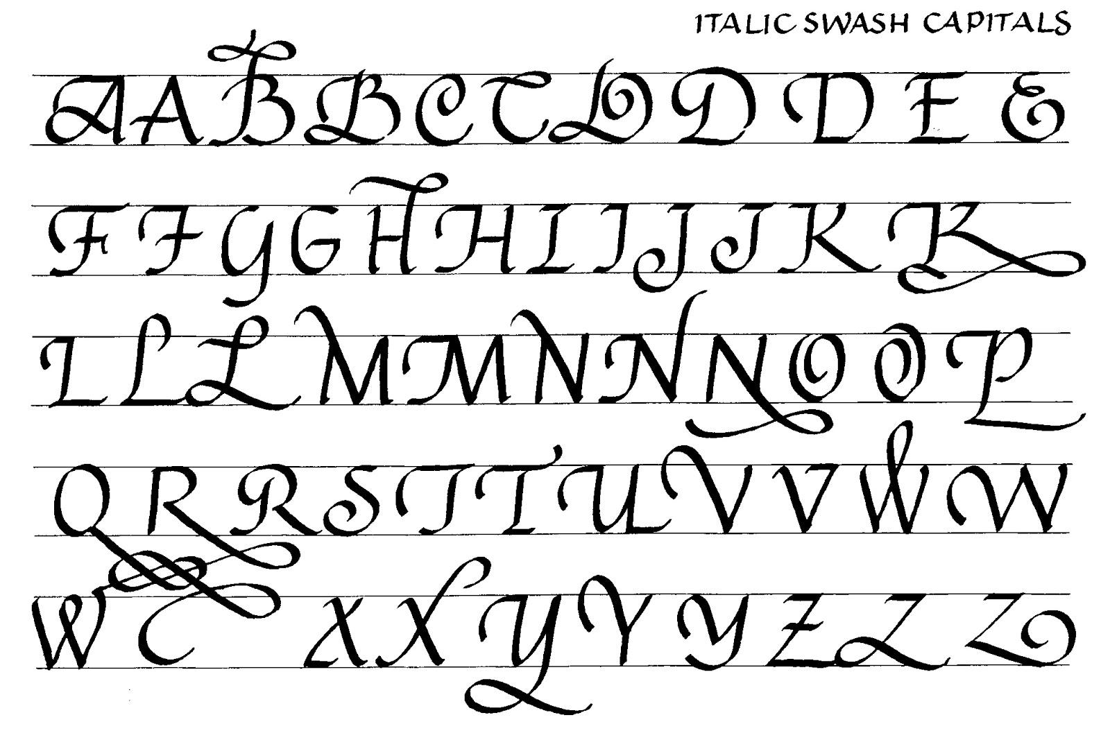 Margaret Shepherd Calligraphy Blog 170 Swash Italic Capitals With Options