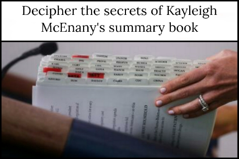 Decipher the secrets of Kayleigh McEnany's summary book