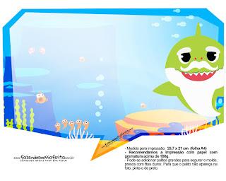 Baby Shark: Cuadros de Diálogo para Fiestas para Imprimir Gratis.