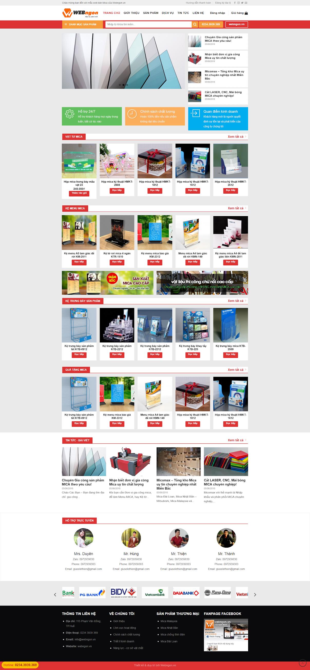 mẫu bán hàng nhựa mica wn009