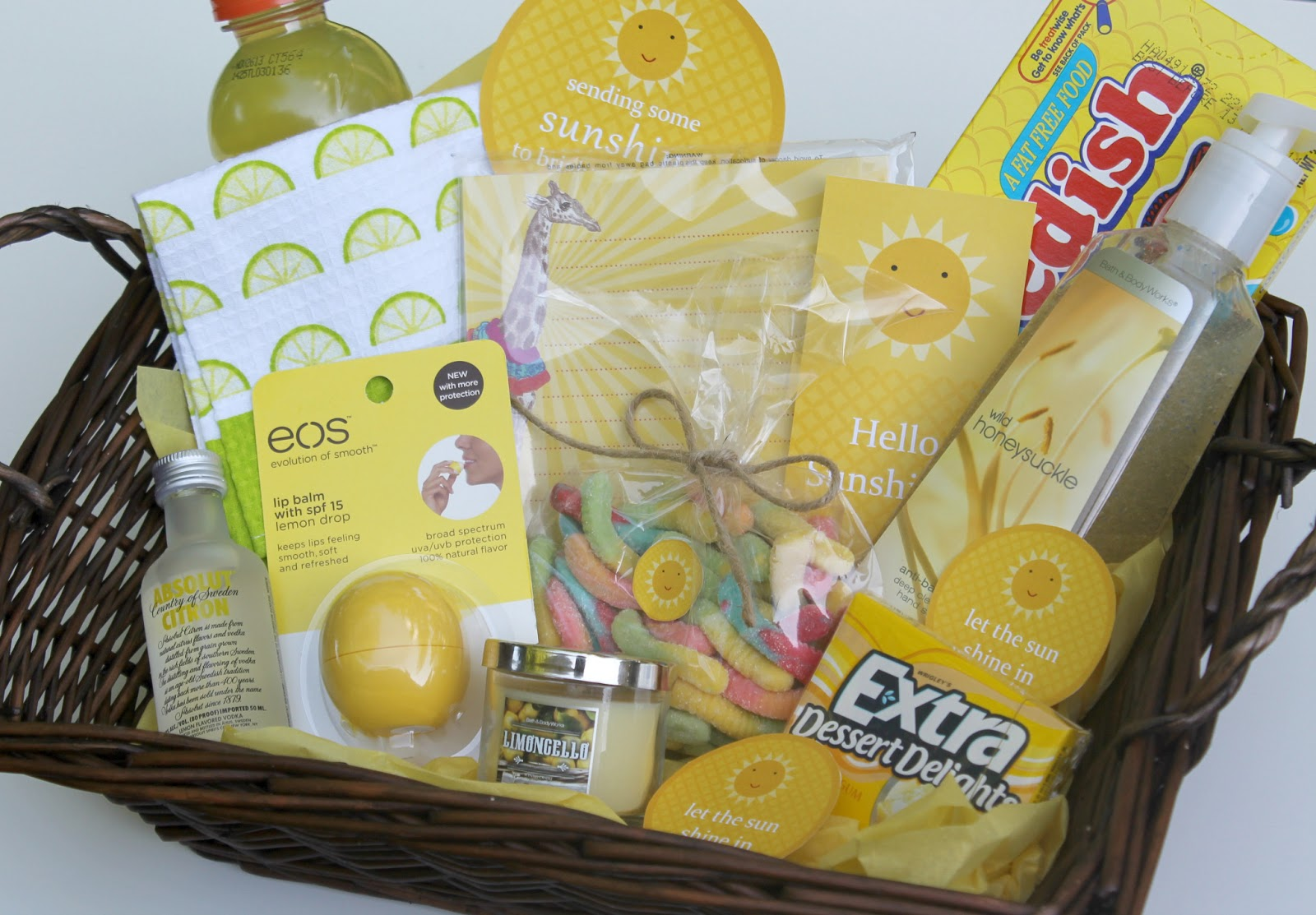 Themes For Gift Baskets: A Little Basket Of Sunshine