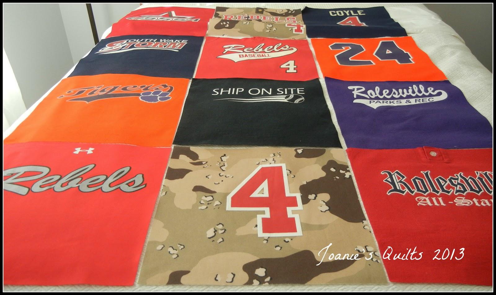Joanie S Trendy Quilts Baseball T Shirt Quilt