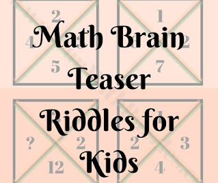 Math Brain Teaser Riddles for Kids