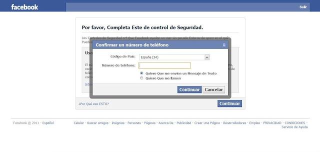 Facebook pide control de seguridad