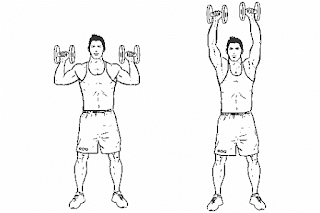 4. Standing Dumbbell Press
