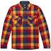 RRL Checked Wool-Twill Overshirt