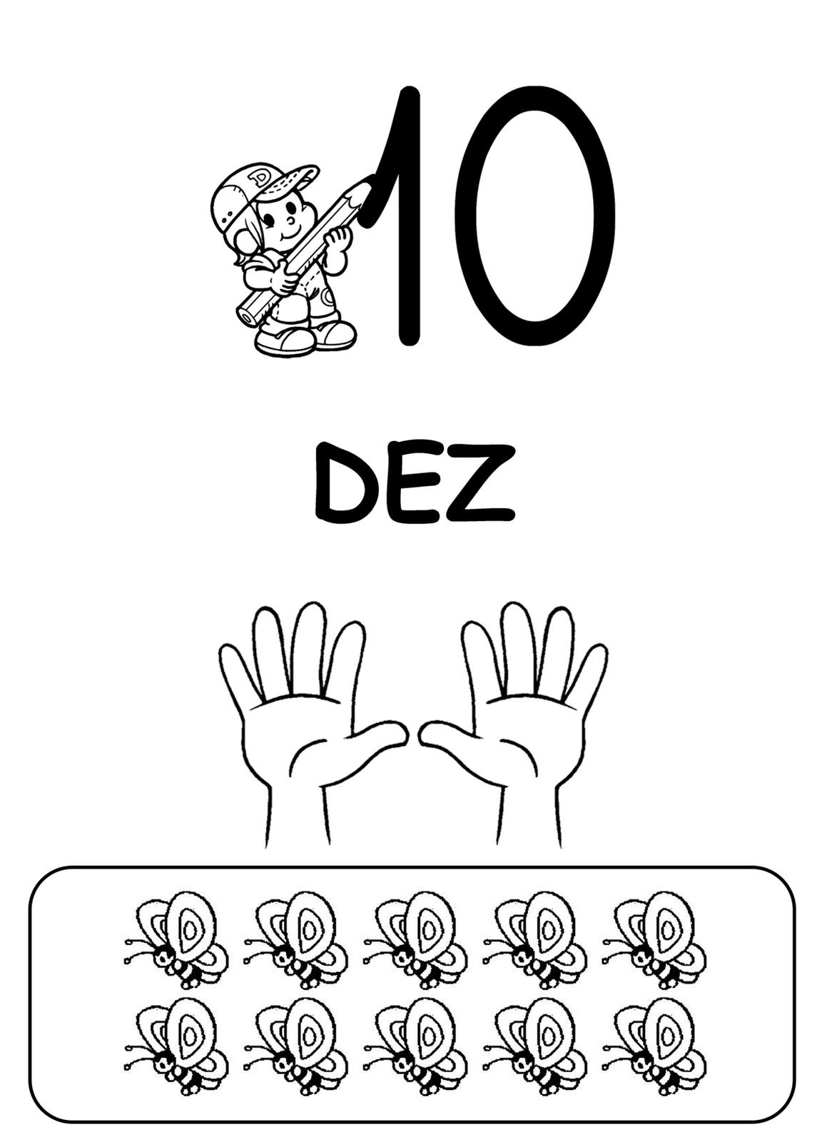 0 a 10 wiring diagram for ceiling light and switch educar x imagens de numero ao para colorir turma da