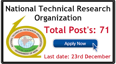 NTRO Recruitment 2019 apply online