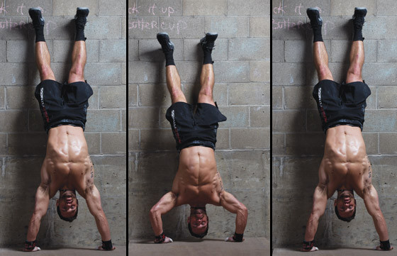 Pistols And Paleo: Crossfit Handstand Push-ups
