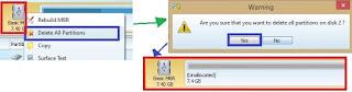 Gambar 1 Cara Partisi Memory Card Menjadi Fat32-Ext2- Linux Swap Menggunakan MiniTool Partition