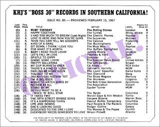 KHJ Boss 30 No. 85 - February 15, 1967