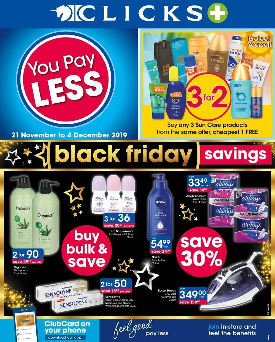 Clicks Black Friday Deals Page 1