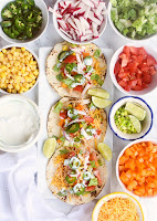 Healthy Chicken Taco Bar