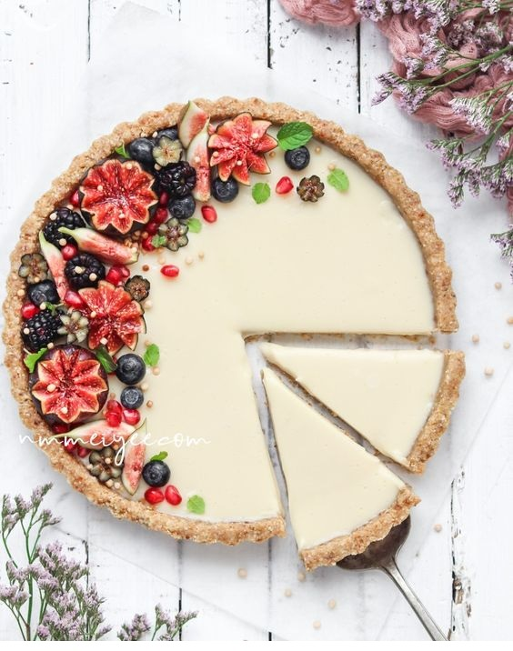 No-Bake white chocolate ganache tart