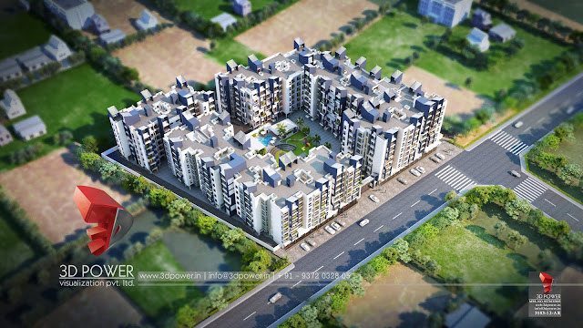best-architectural-rendering-services-township-birds-eye-view