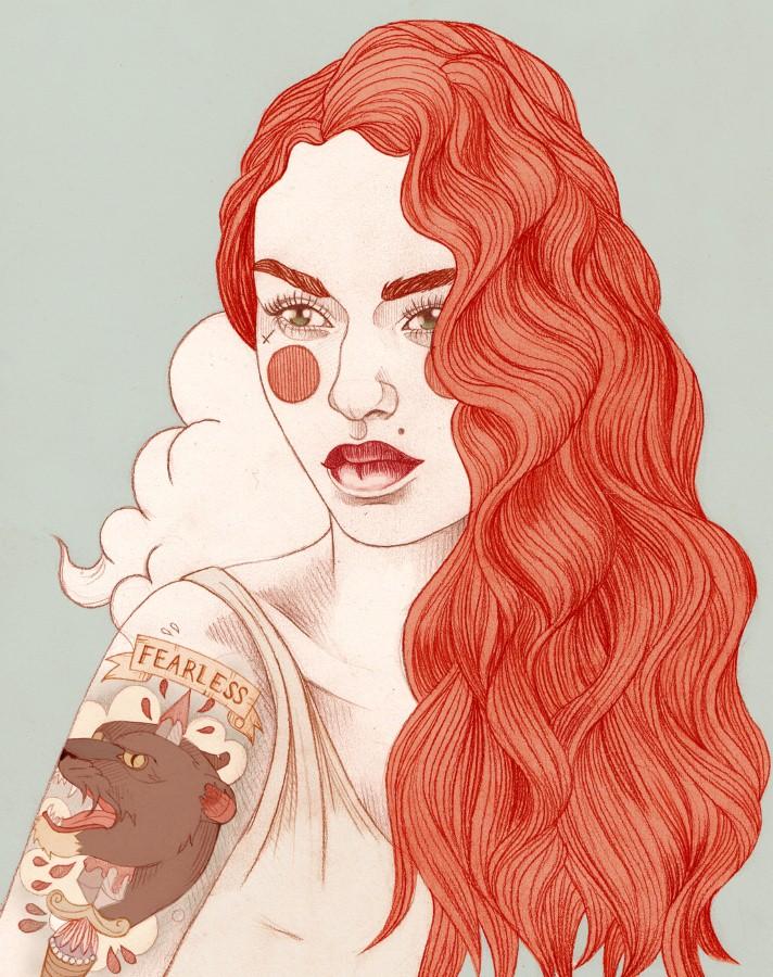 Татуированные женщины Лиз Клементс (Liz Clements) 9