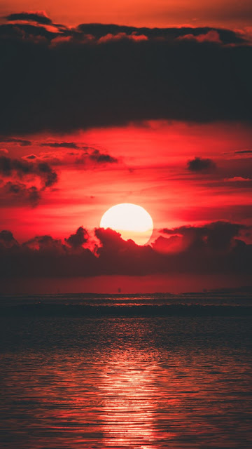 HD wallpaper Beautiful red sunset