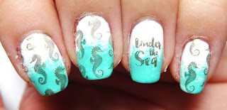 Seahorse Stamped Nails
