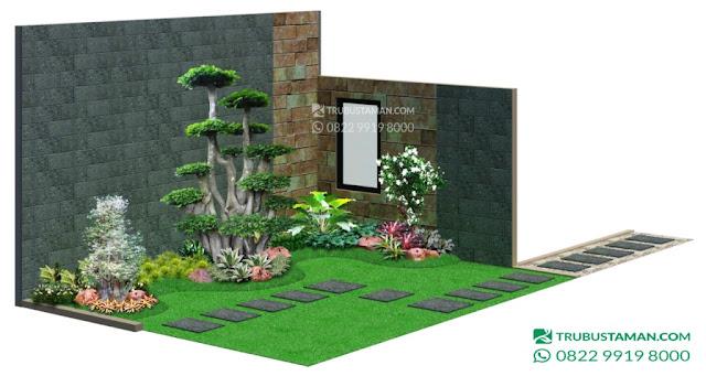 konsep desain taman minimalis