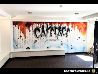 CAKEFACE PATISSERIE KILKENNY HAND PAINTED MURAL BY FEATUREWALLS.IE PROFESSIONAL IRISH  MURAL ARTISTS
