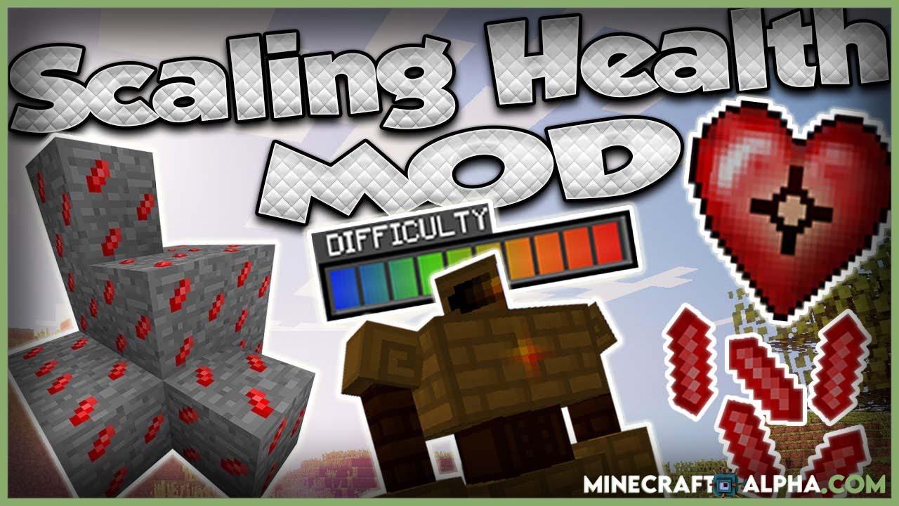 Minecraft Scaling Health Mod 1.17.1 (Gain Extra Health)