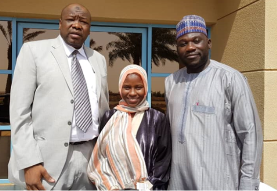 Photo of Zainab Aliyu shortly after her release from detention in Saudi Arabia