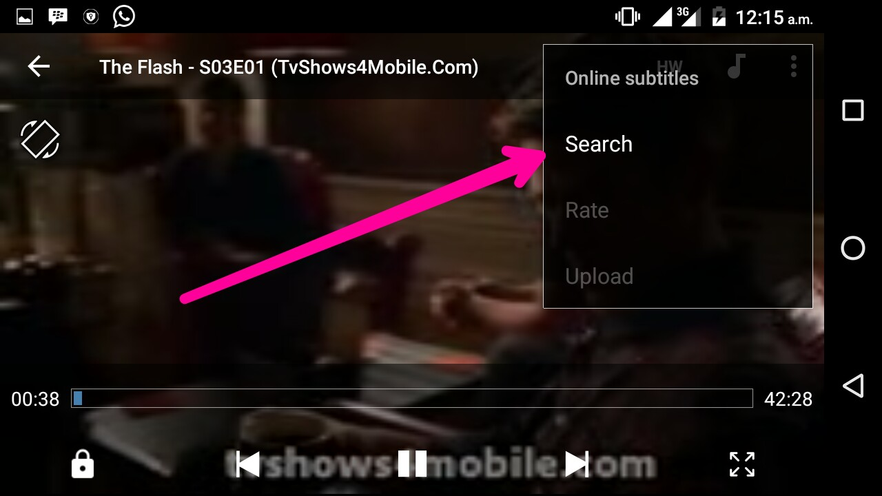 How to add subtitles to a movie on android laugh tablet world you can switch on your data connection for it to search the subtitle for that video online and you should choose any best subtitle for your video ccuart Gallery