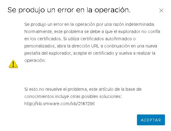 VMware: Error al subir archivos datastore